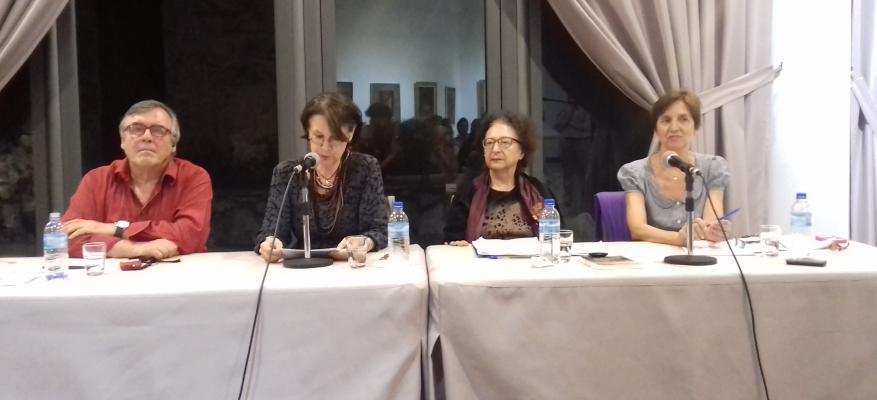Φωτογραφία εκδήλωσης (Π.-Μ. ντε Μπιαζί, Λ. Τσιριμώκου, Τ. Τσαλίκη-Μηλιώνη)