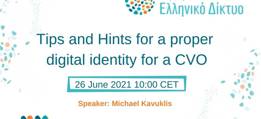 Tips and Hints for a proper digital identity for a CVO