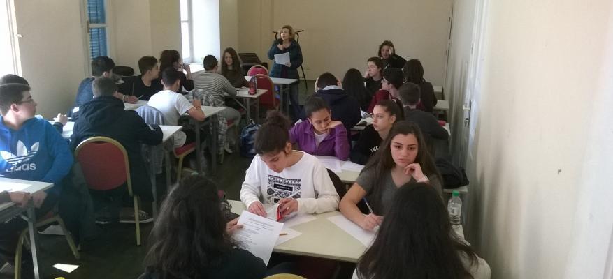 Διαγωνισμός μετάφρασης για μαθητές στις εγκαταστάσεις του Δ.Κ.Σ.Μ.Ρ.